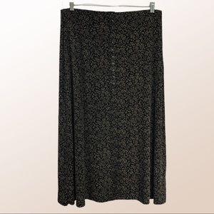 JM Collection Foliage Print Stretch Skirt